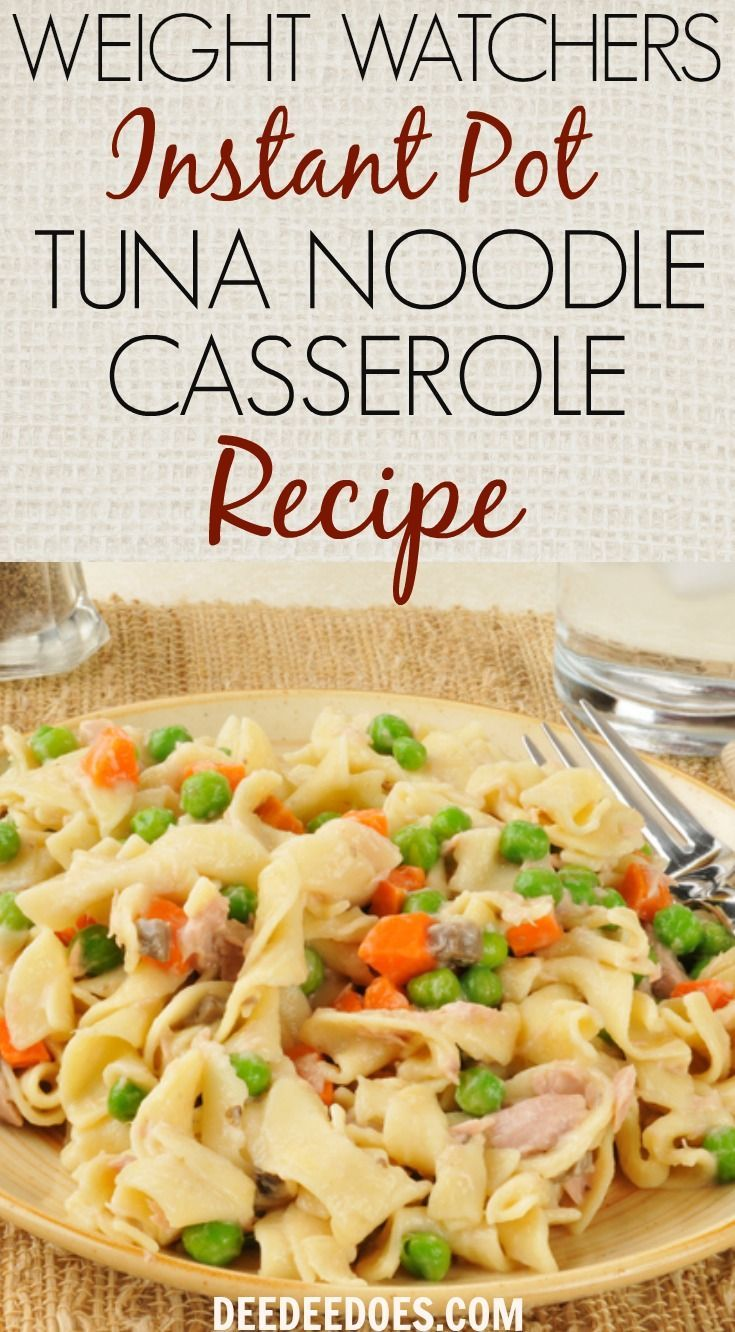 Weight Watchers Instant Pot Tuna Noodle Casserole images