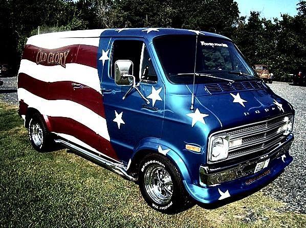 Dodge Old Glory Vk Custom Vans Vans Vintage Vans