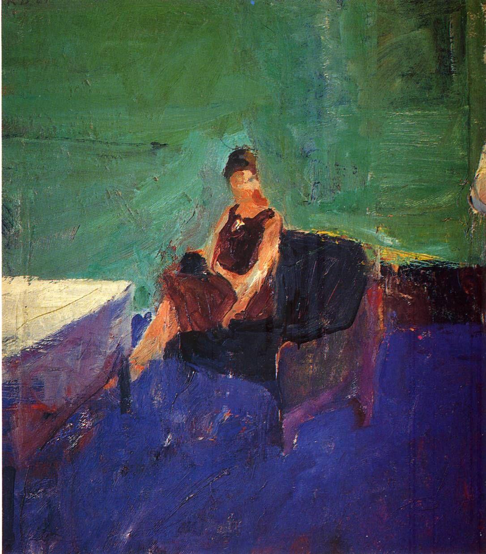 Richard Diebenkorn. http://uploads7.wikipaintings.org/images/richard-diebenkorn/seated-woman-green-interior.jpg