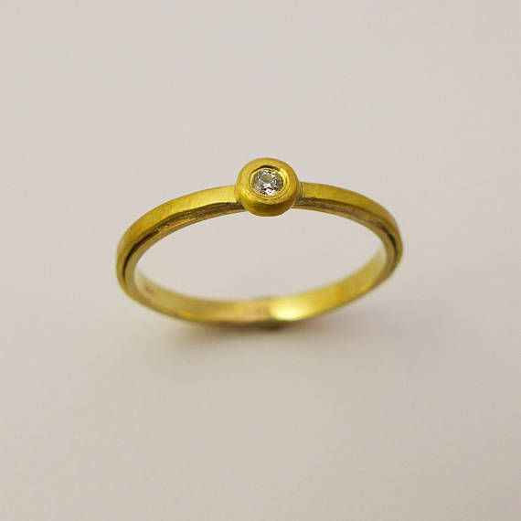 45ea5a954f685 Delicate engagement Ring Simple engagement ring 22 k gold | Best ...