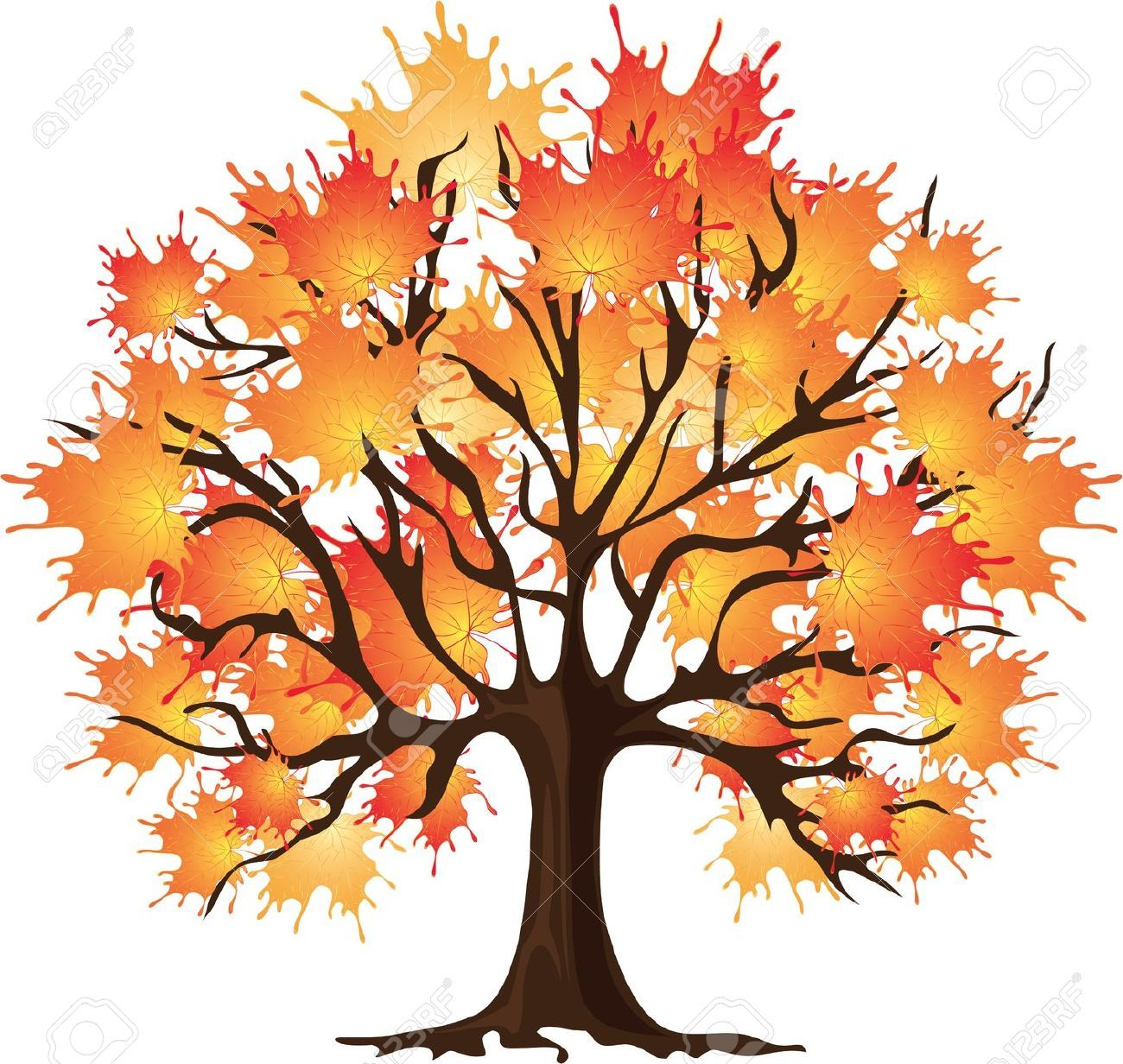 It's just a picture of Clever Fall Tree Drawing