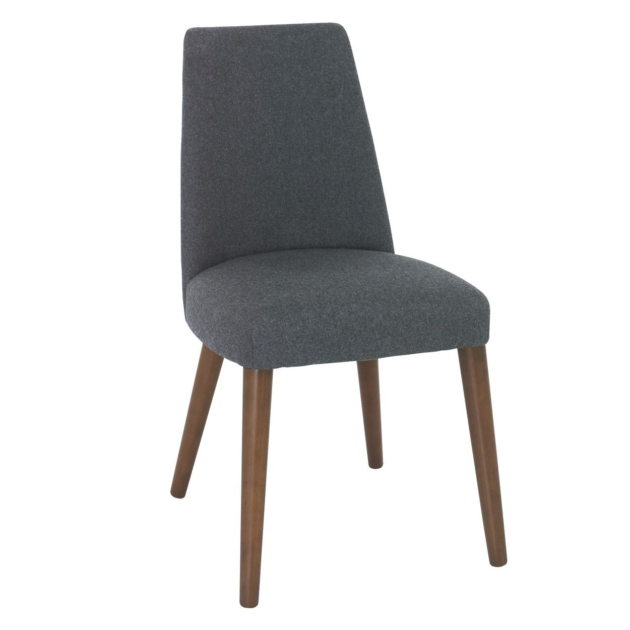 RJR.John Rocha Pair of grey felted \'Eclipse\' upholstered chairs- at ...