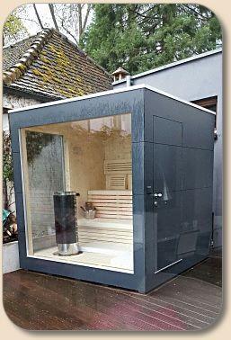 Gartensauna Modern gartensauna cube cubus design saunas