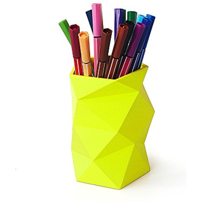Geometric Pen Holders Pen Holder Design Modern Desk