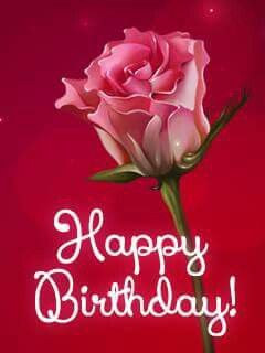 Happy Birthday Pink Rose With Images Romantic Birthday Cards