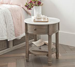 Alexandra Marble Desk Gray Wash Furniture Desks