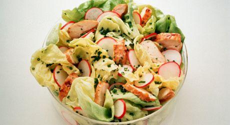SHAPE-Diät: RezepteWie wäre es mit ein bisschen Fleisch über dem klassischen Salat? Einfach, schnell und gesund.Zutaten (1Portion)100 g