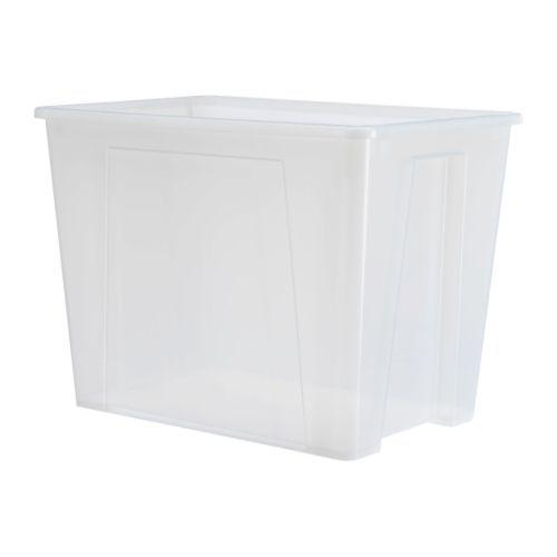 Samla Boite Transparent 56x39x42 Cm 65 L Ikea Lador Organisera