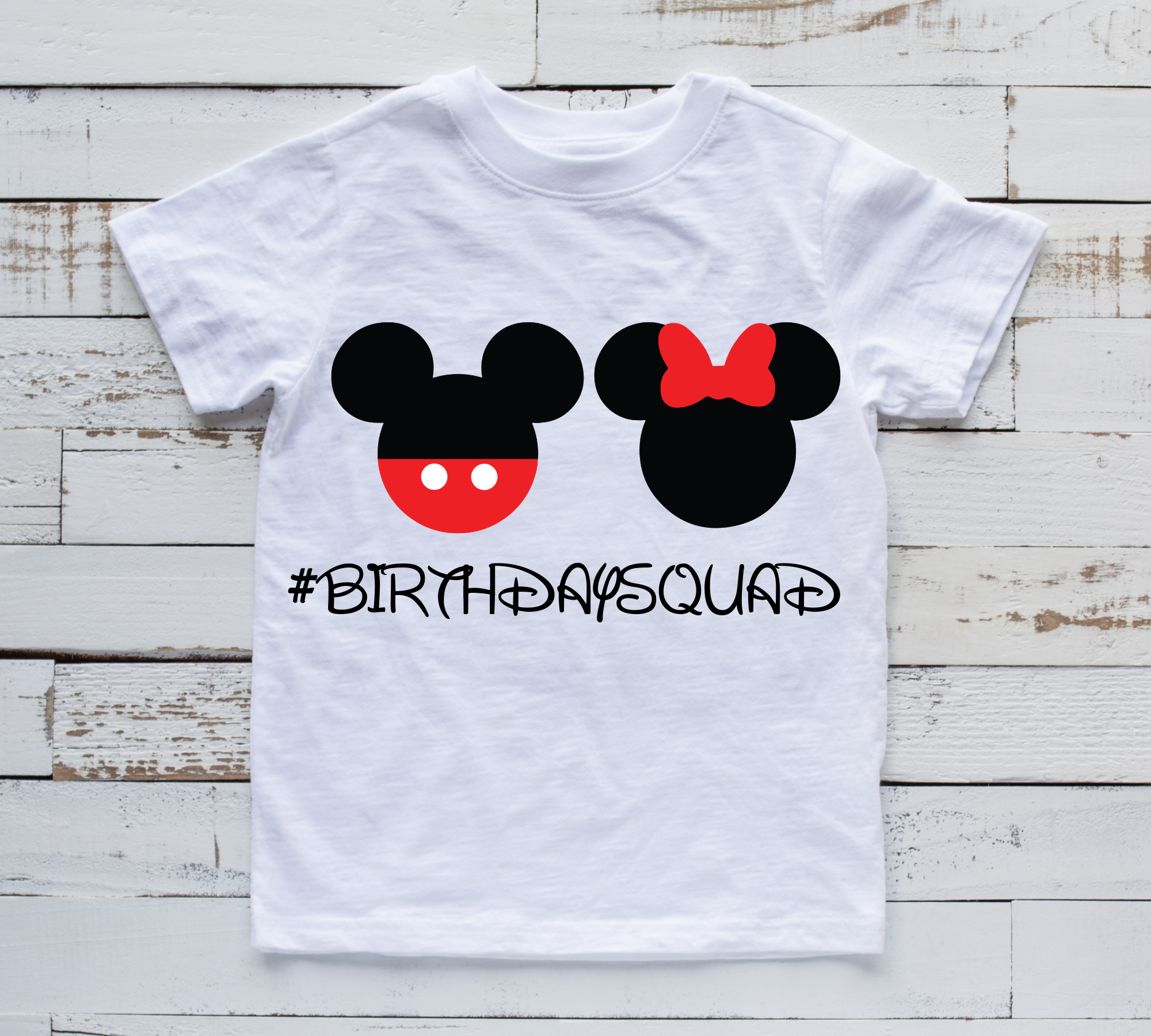 Throwing A Disney Themed Birthday Party Check Out This Birthdaysquad Tee Shirt With Mickey Mouse And Minnie Birthdayoutfit Mickeymouse