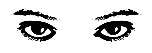Eyes Watching Coloring Page Clip Art Eyes Clipart Clipart Black And White