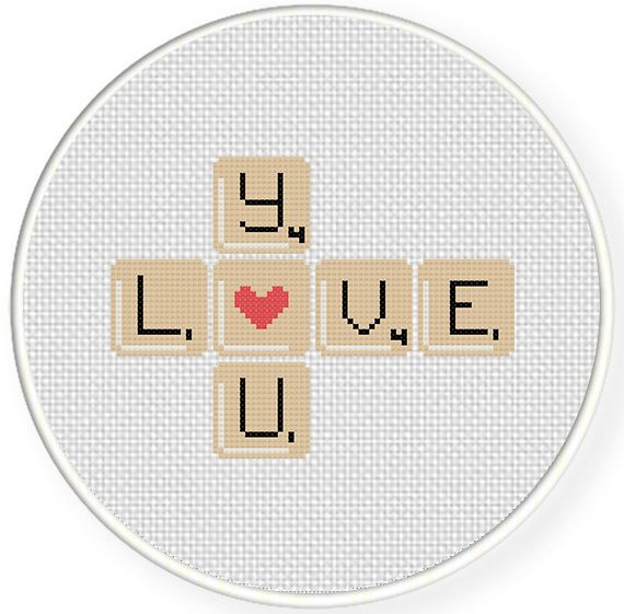Charts Club Members Only Love You Word Game Cross S Ch Pattern