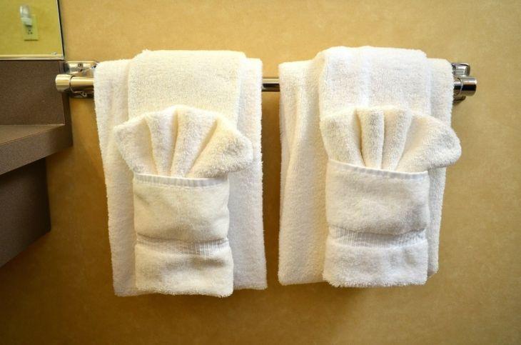 doblar toallas con bolsillos