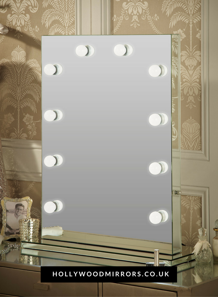 Diaz Hollywood Mirror Portrait 80 X 60cm Free Standing + Wall Mounted
