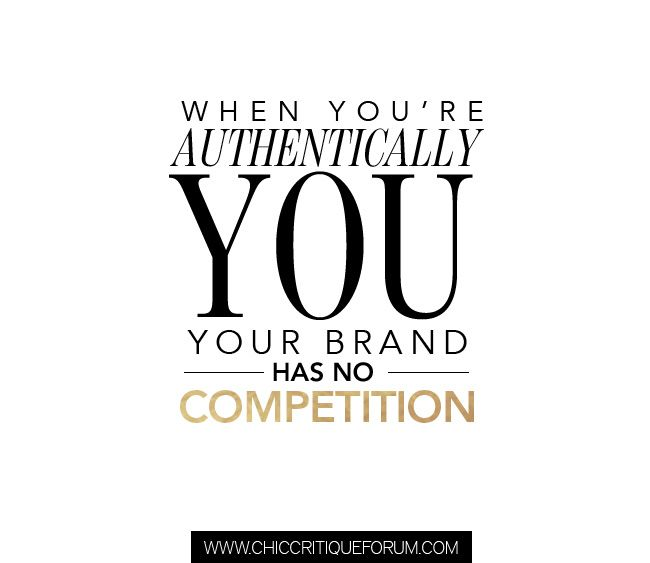 SPARKLE SUNDAY When youu0027re authentically you your brand has no - branding quotation