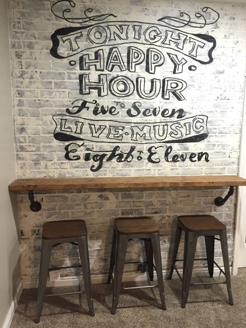 DIY TUTORIAL: Brick Wall Bar U2013 Ghost Advertsiting  Vintage  Brick Wall  Panneling