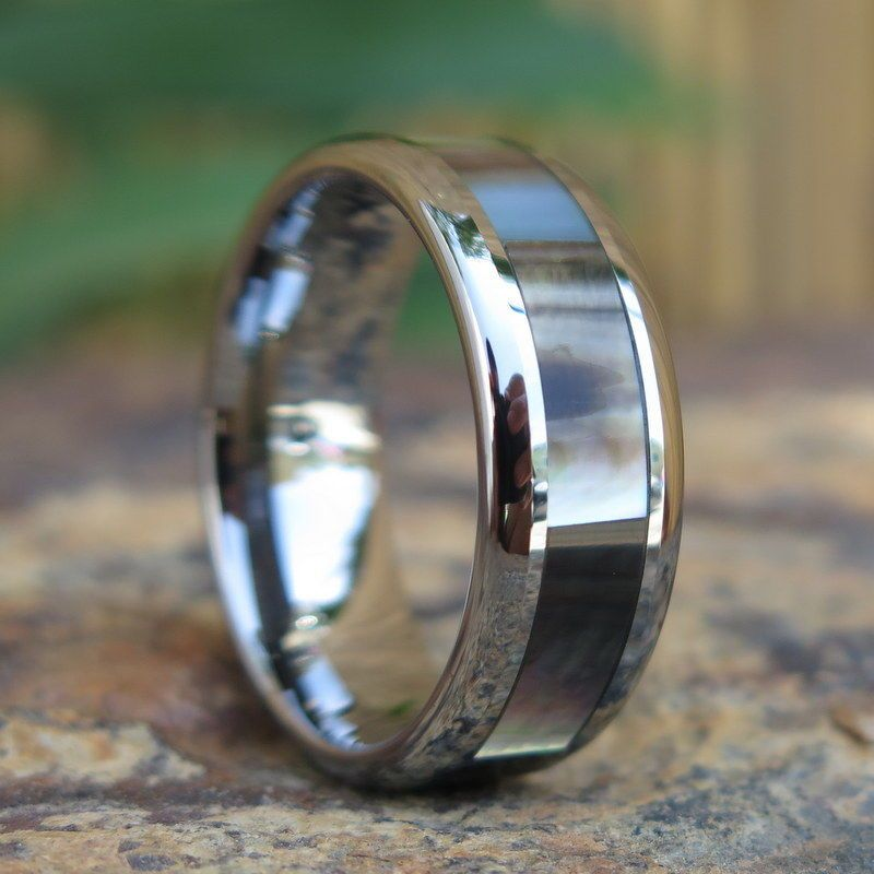 Details about hawaiian jewelry tungsten black mother of