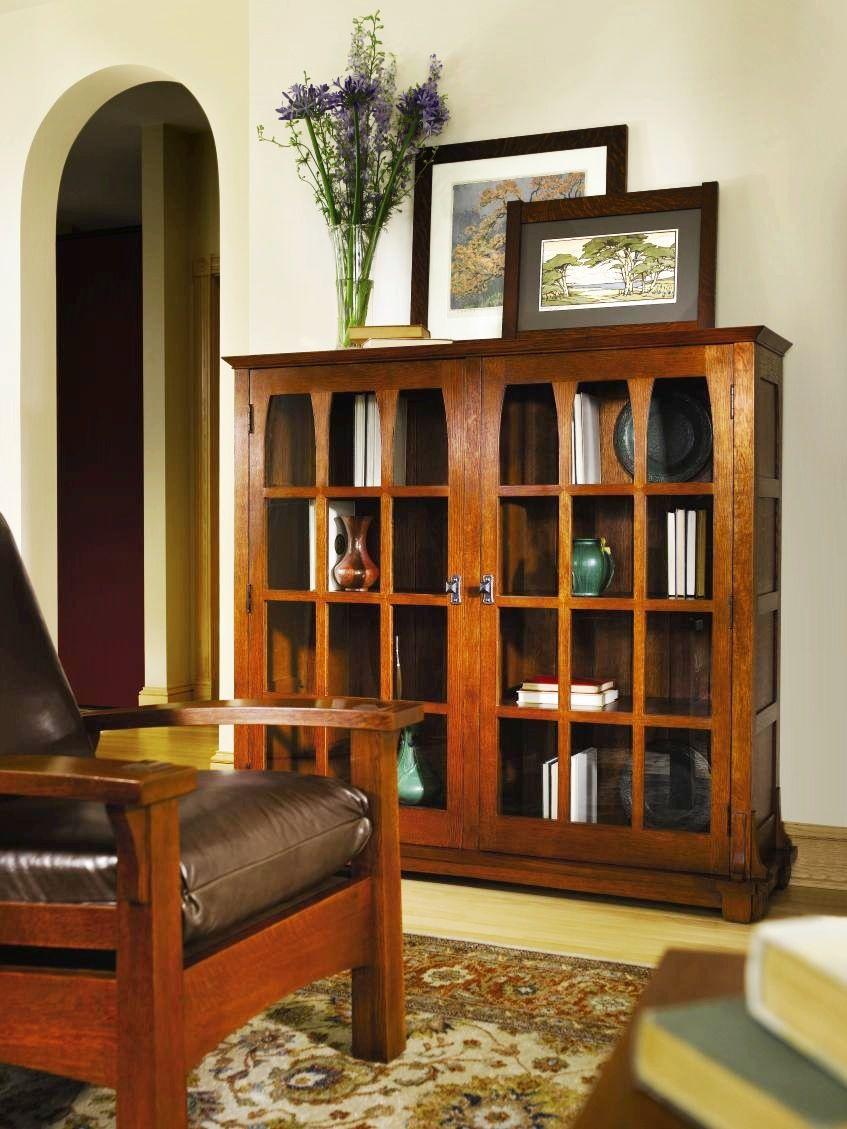 Arts And Crafts Bookcase Craftsman furniture, Craftsman