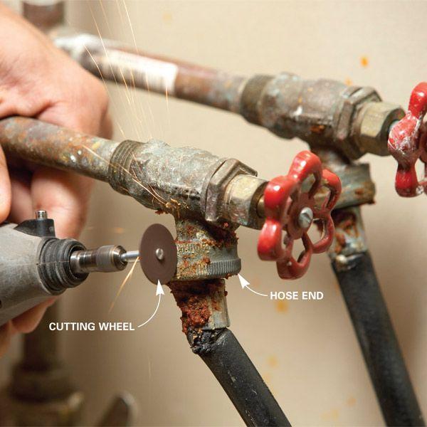 Fix A Stuck Washing Machine Hose Washing Machine Hose Washing Machine Repair Smelly Washing Machines