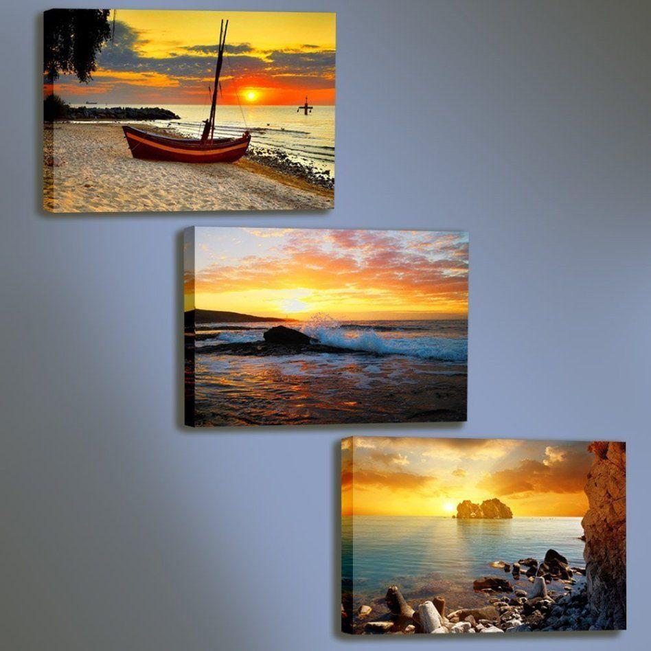 Amazon rising sun 3 panels canvas prints modern