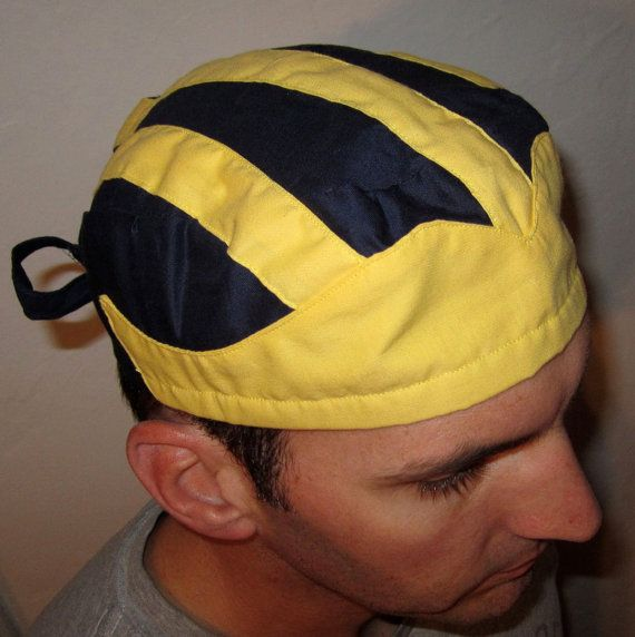 Michigan Winged Football Helmet Scrub Cap by scrubincustom on Etsy ... 8b17ccf61b3