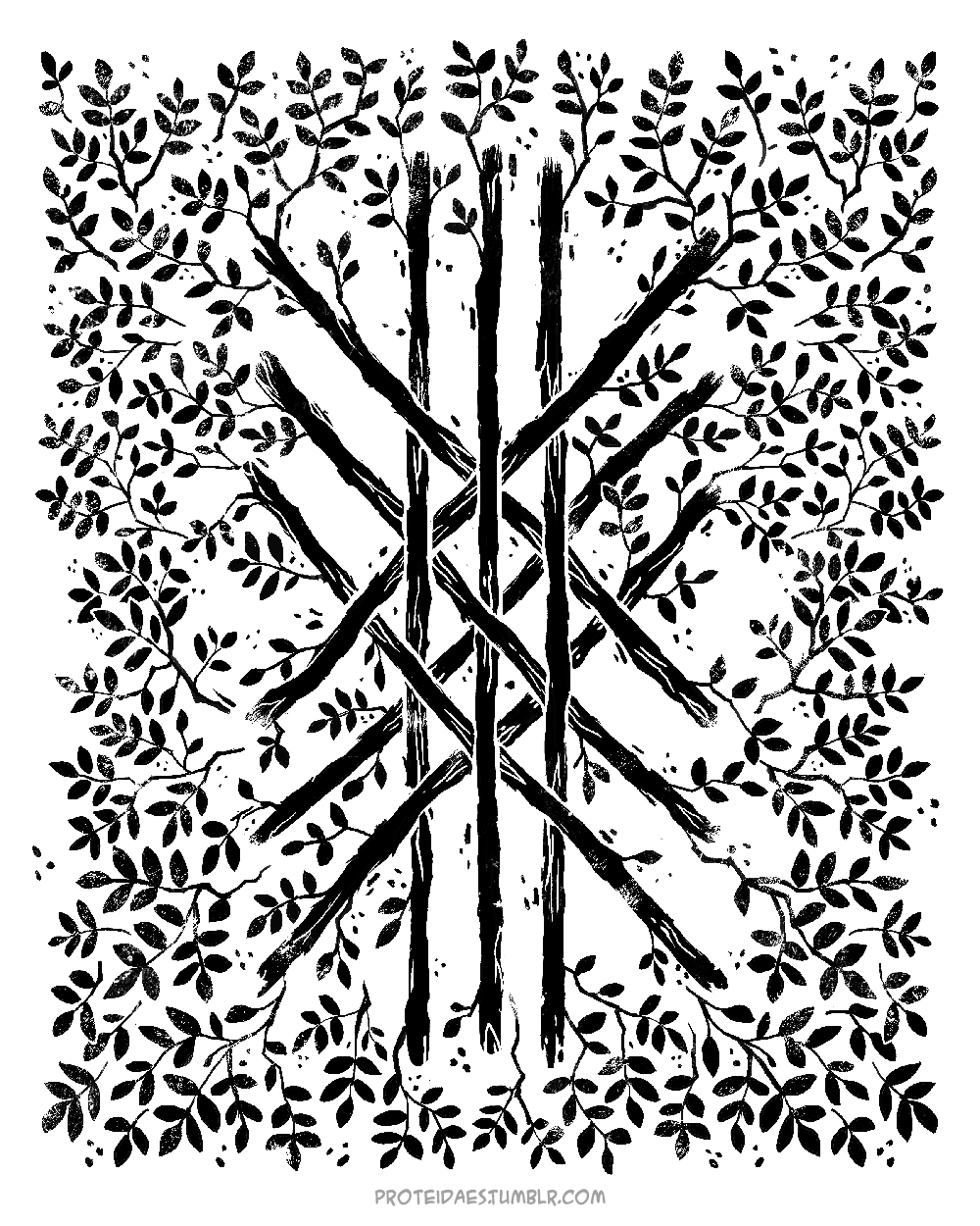 The Web Of Wyrdcontains Every Shape Of The Runes Hence Its