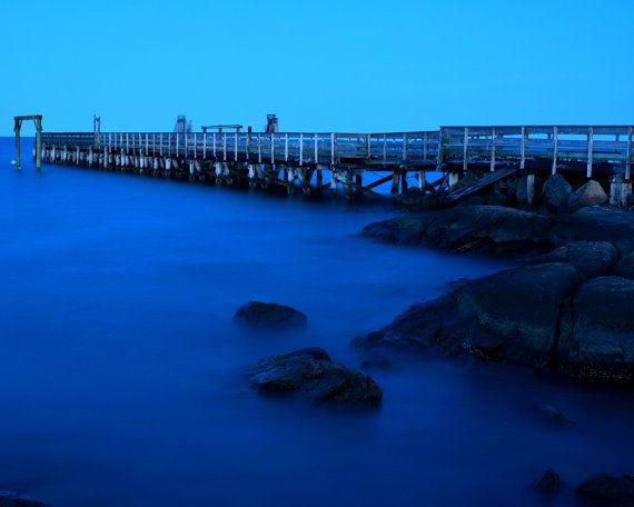A deep blue sky over the Salem Willows pier. Salem, MA