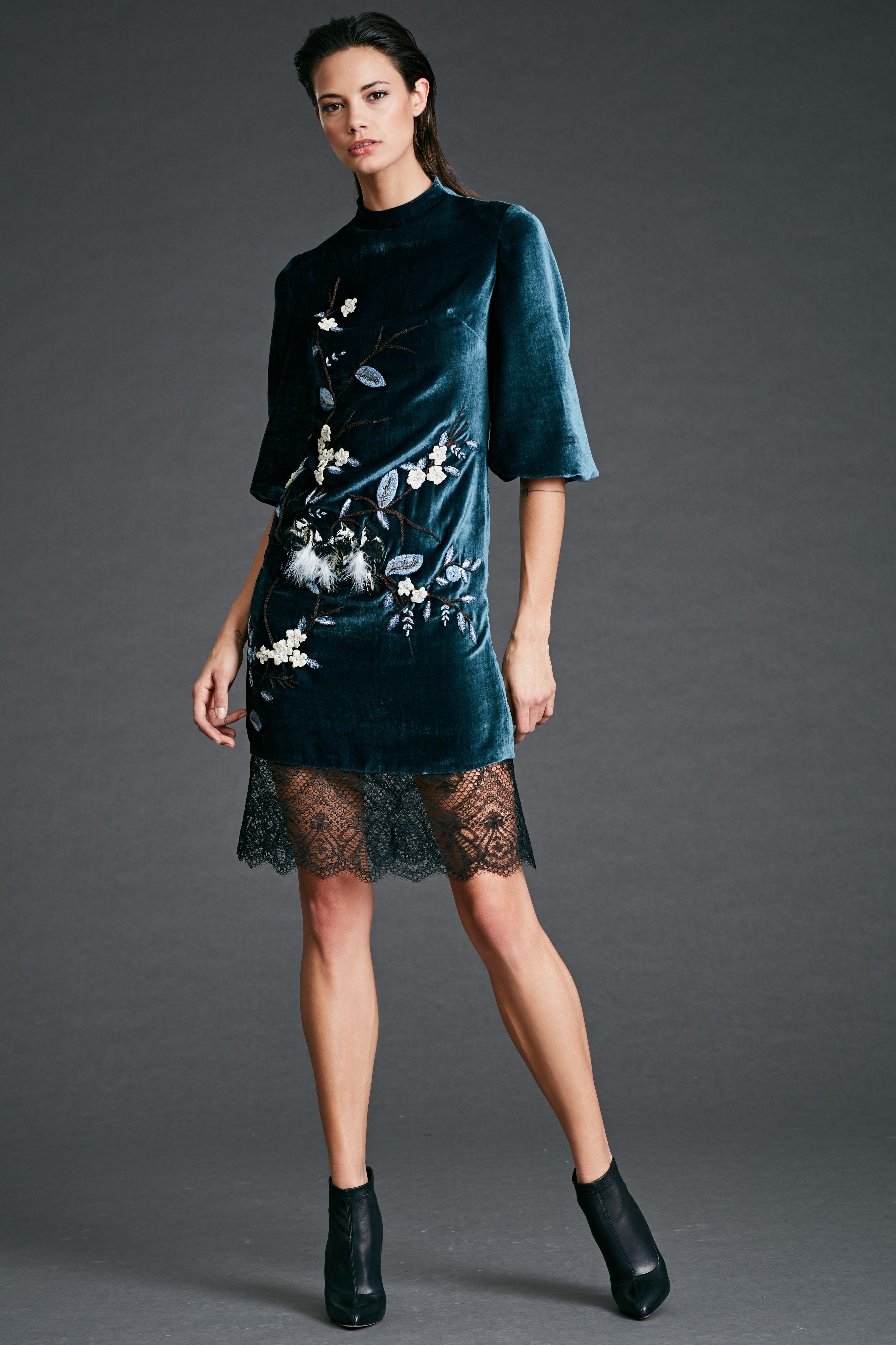 Midi velvet evening dress with black lace midi velvet evening