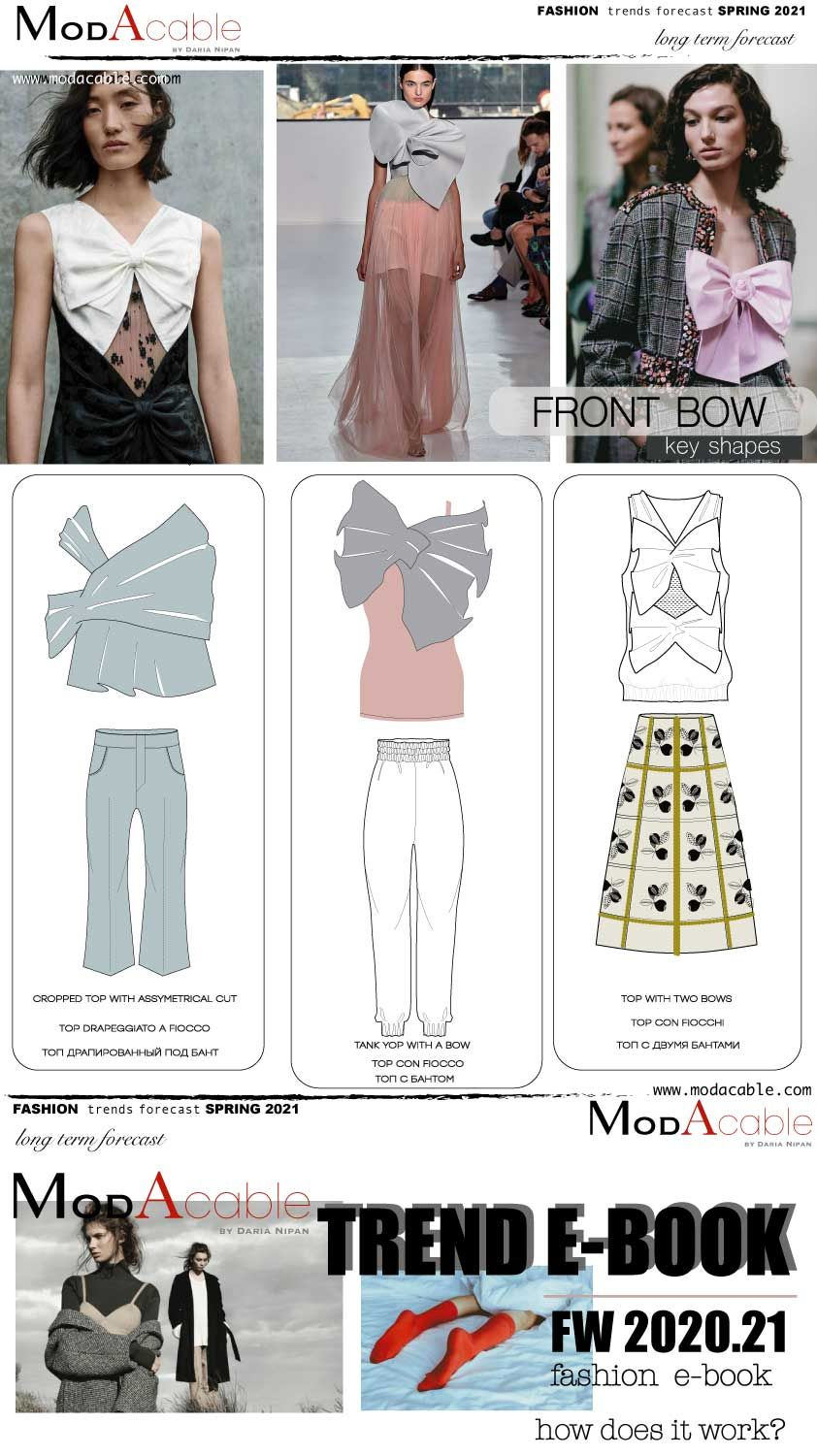 Spring 8 trend Front Bow  Fashion trend forecast, Spring