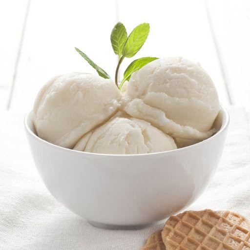Easy Vanilla Ice Cream for 1.5 Quart Ice Cream Maker #healthyicecream