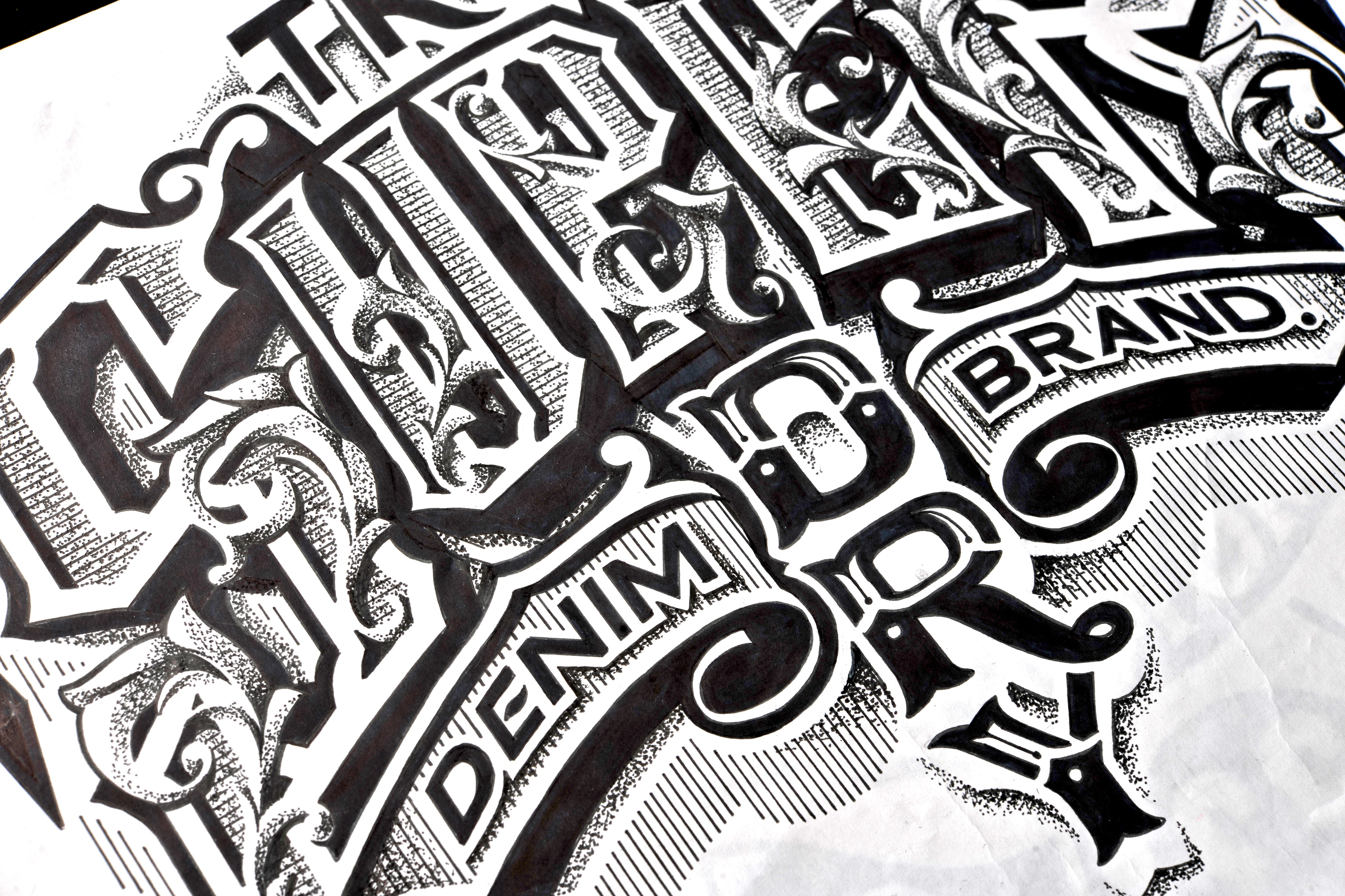 Look at the detail in this incredible handdrawn logo