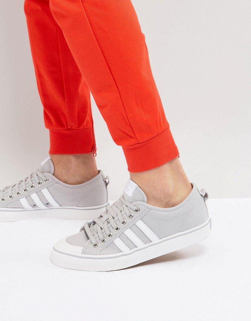 best service 48308 a026b ADIDAS ORIGINALS NIZZA LO SNEAKERS IN GRAY BZ0498 - GRAY.  adidasoriginals   shoes