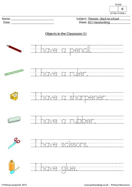 Back To School Objects In The Classroom 1 With Images