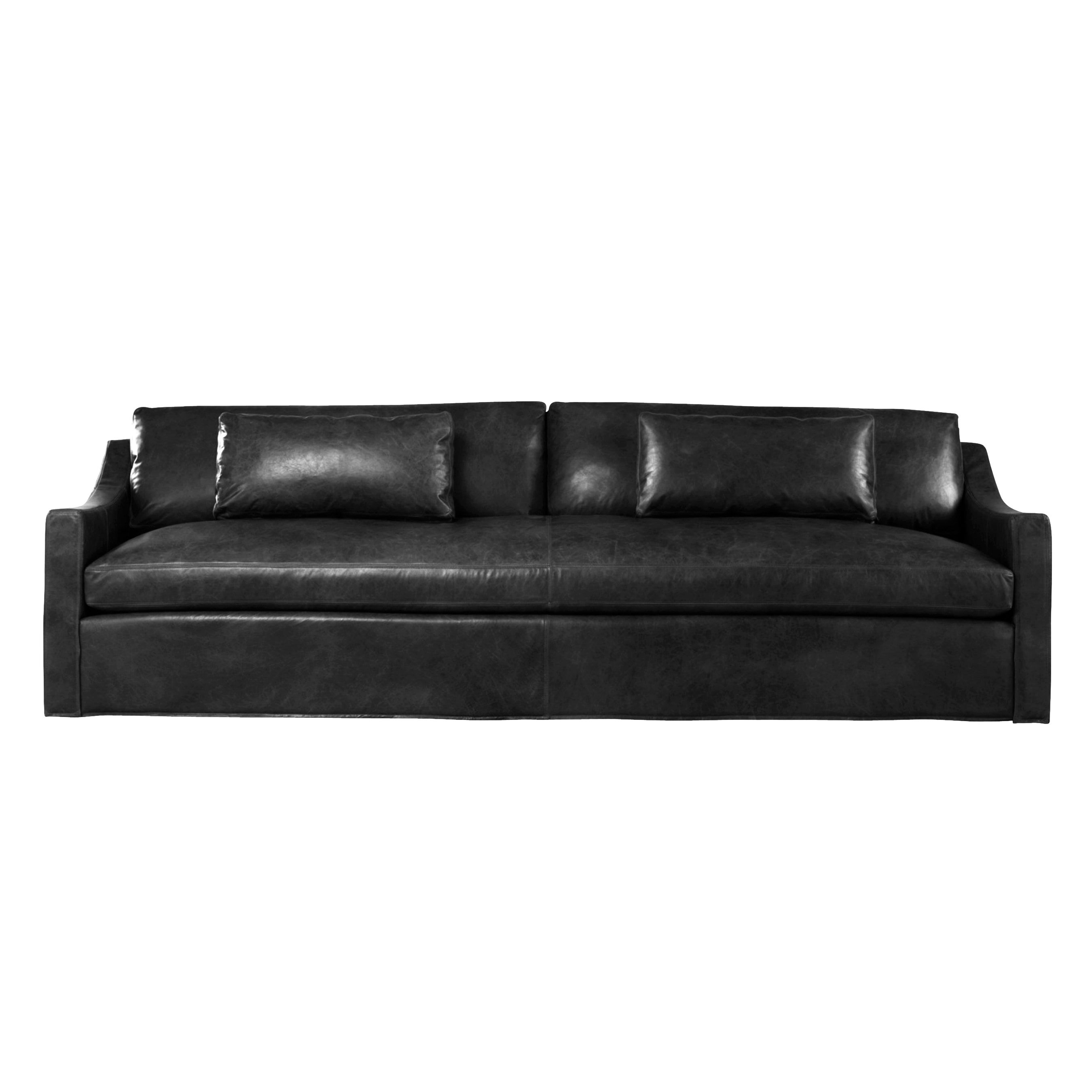 Groovy Duffy 7 Foot Extra Deep Black Or Brown Leather Made To Order Beatyapartments Chair Design Images Beatyapartmentscom