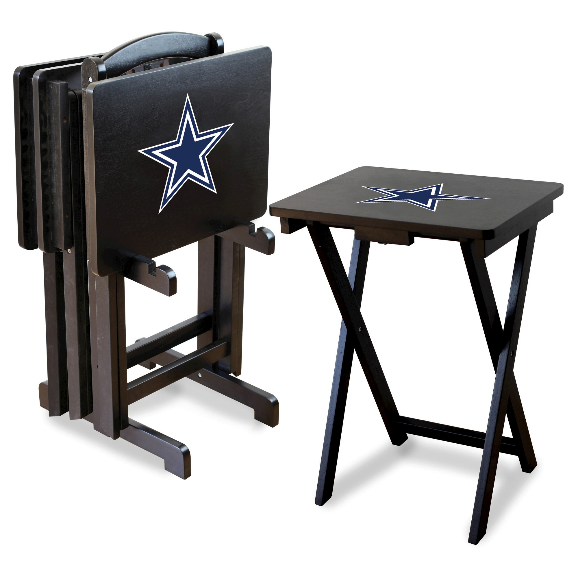Imperial Tv Trays With Stand 4 Pk Dallas Cowboys Tv Tray Set Tv Tray Table Tv Trays