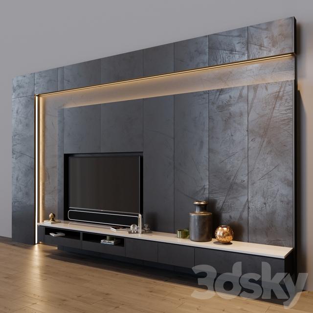3d Models Tv Wall Tv Set 8 In 2020 Living Room Design Modern Living Room Tv Unit Designs Tv Room Design