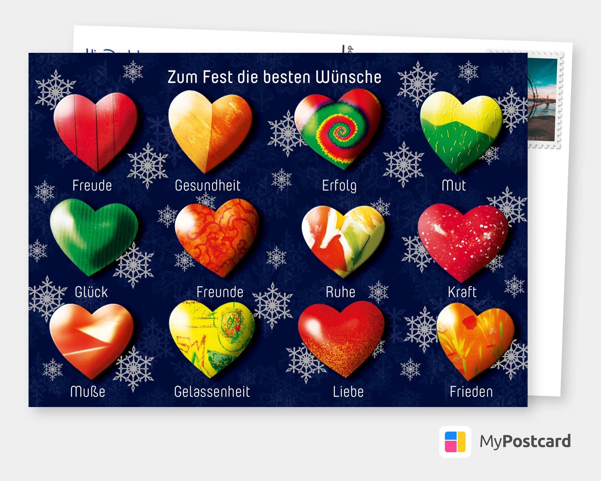 zum fest die besten wünsche  grußkarten weihnachten