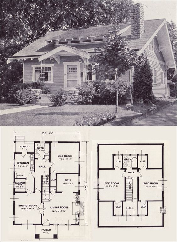 The Gladstone 1923 Standard Homes Company House Plans of the