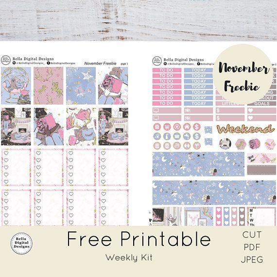 21e17ce1f7b58 DO NOT BUY! Free Printable weekly kit. Cozy Feeling November Freebie ...