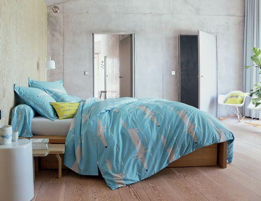linge de lit licence MR FOX BLEU Linge de maison Blanc des Vosges Licence Scion Living  linge de lit licence