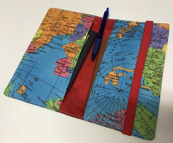 World map travel wallet passport holder travel organizer world map travel wallet passport holder travel organizer gumiabroncs Images