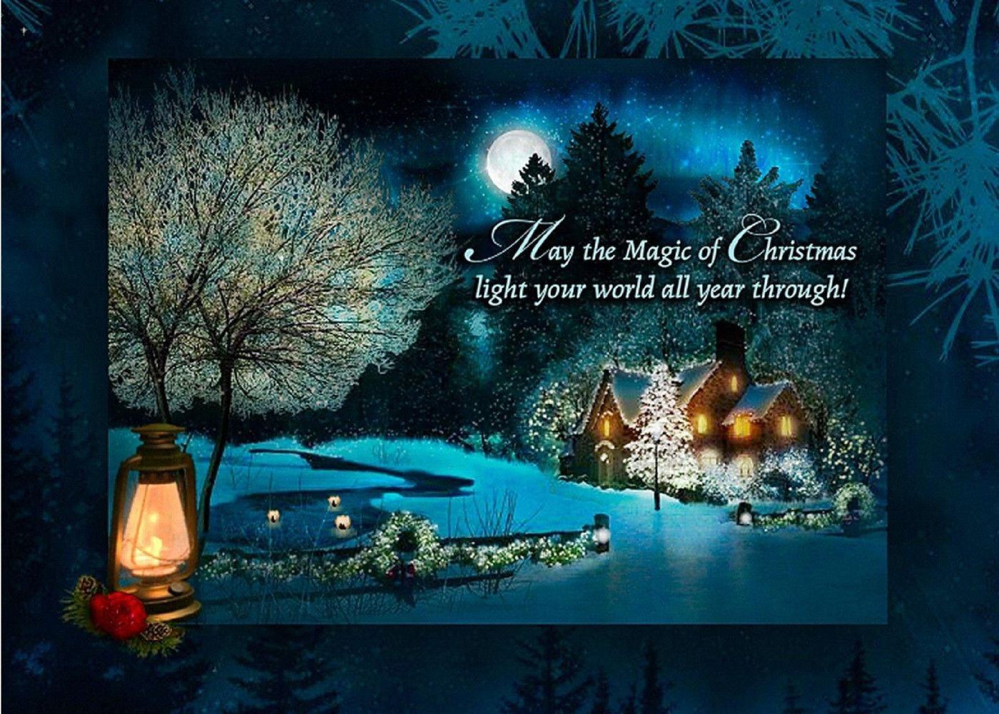 Christmas Card With Serene Picture Send This Today By Just