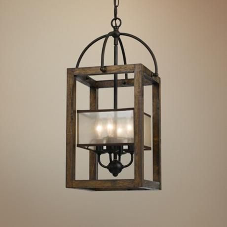 Harper Wood 12 Wide Iron Pendant Chandelier