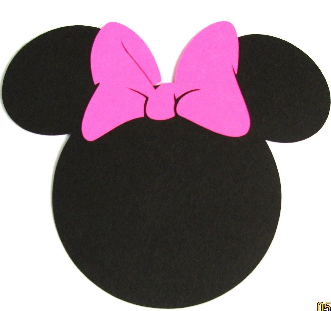 Pack de 40 5 favorisent les oreilles de minnie mouse avec 20 pack minnie mouse ears with a hot pink bow diy invitationsbanners favor tags labels thank you cards pronofoot35fo Gallery