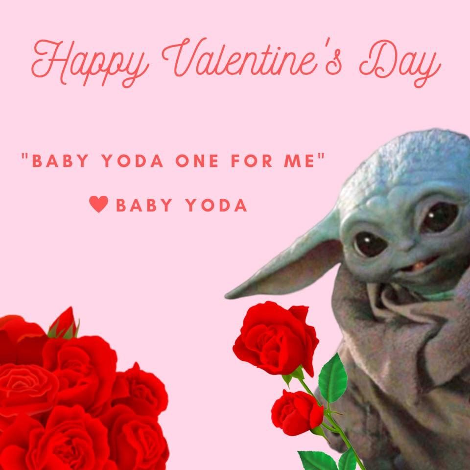 Baby Yoda This Is The Way Memes Fb Group Credit Yoda Meme Beauty And The Beast Bedroom Nerd Valentine