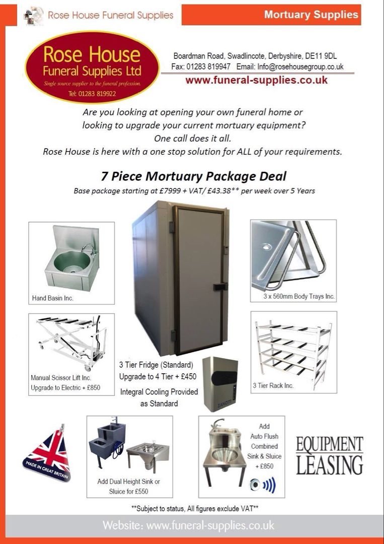 Rose house funeral supplies, complete mortuaryPackage for