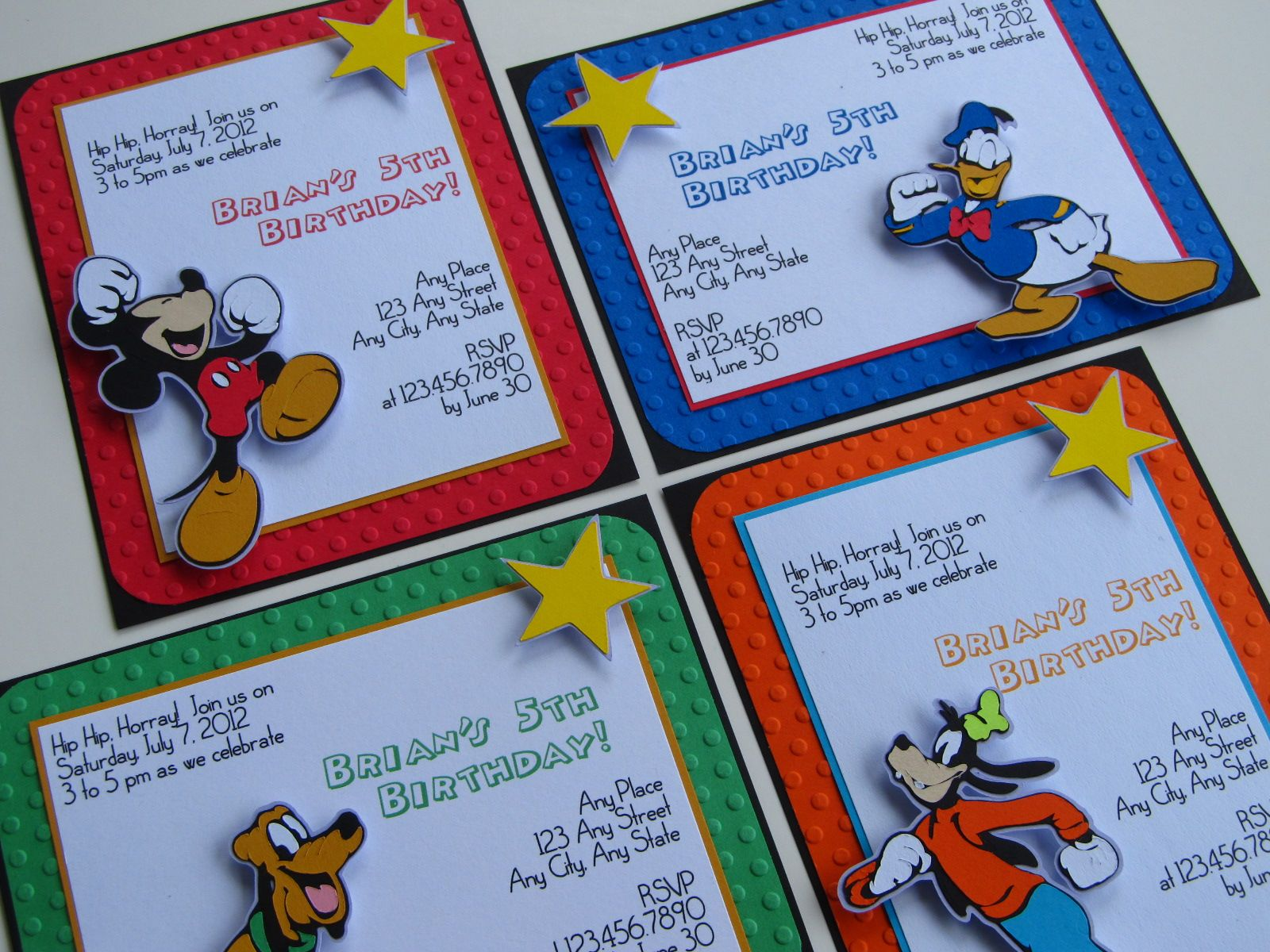 Mickey and Friends birthday party invites For ordering info please