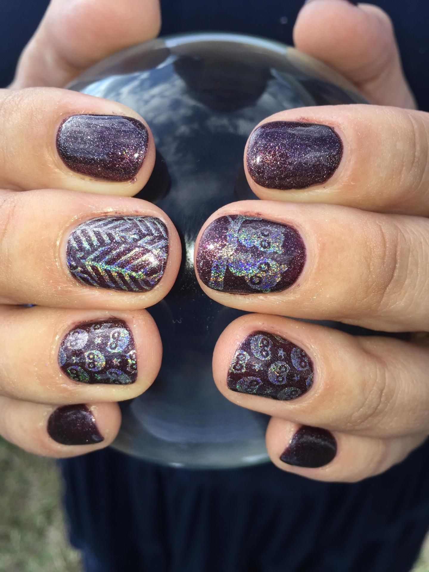 The Brown Is Gelish Whose Cider You On The Stamp Is Color Club Cherubic Plate Is Born Pretty