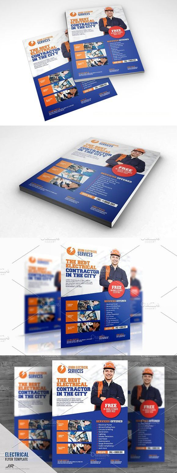 Electrical Services Flyer AFlyer Advertisement  Flyer