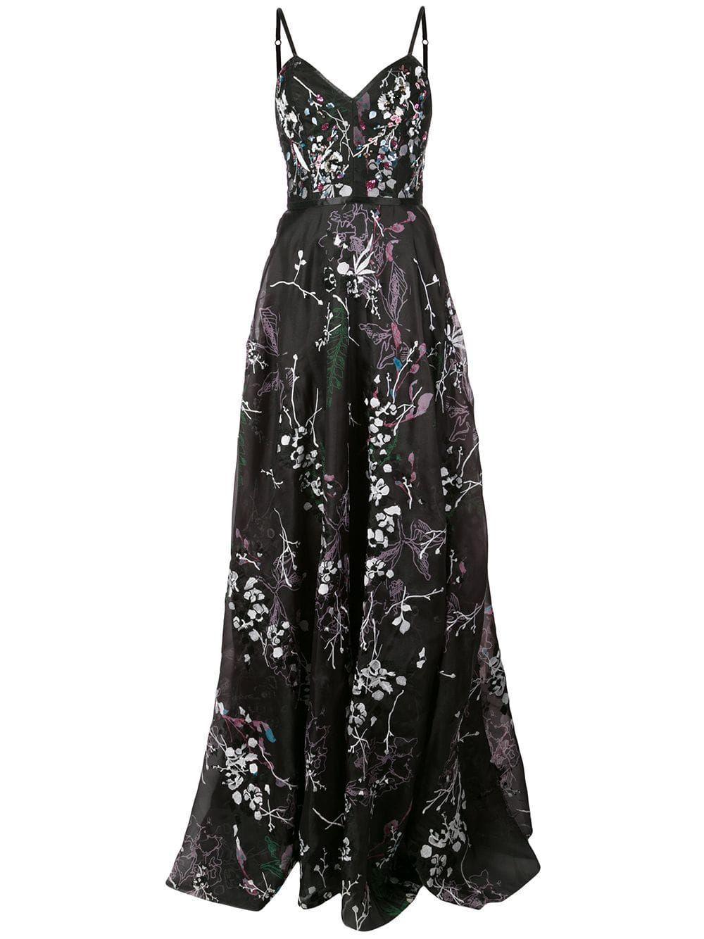 4c7c88273de Marchesa Notte floral embroidered gown - Black em 2019 | My Polyvore ...