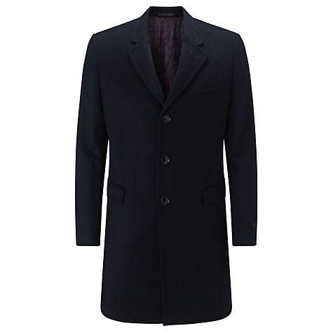 Buy Ted Baker Caspar Wool Cashmere Epsom Coat Navy Online at